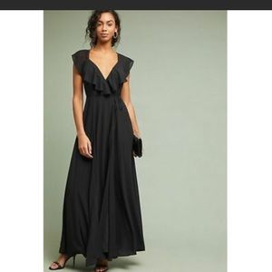 Yumi Kim Anthropologie Liliane black maxi formal
